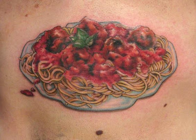 one dozen unique food tattoos.4720024.87 >Tattoos   crazy for food