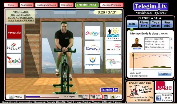 gimnasio virtual en tu casa