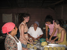 Making empanadas with a women's group