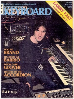 Larry Fast, Synergy protagonista en la revista Contemporary Keyboard en 1980