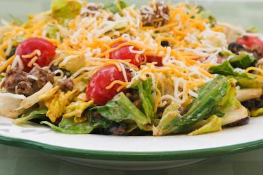 Original Photo Kalyn's Perfect Recipe for Taco Salad (Low-Carb, Gluten-Free) found on KalynsKitchen.com