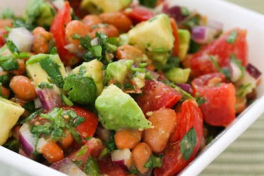 Pinto Bean and Tomato Salad