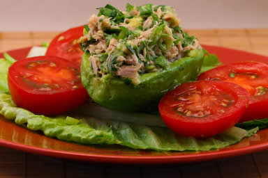 Avocado Stuffed with Tuna Salad