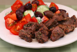 Easy Lamb Souvlaki from KalynsKitchen.com