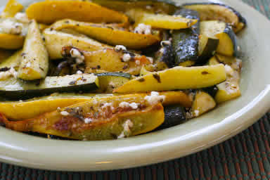 Roasted Baby Summer Squash