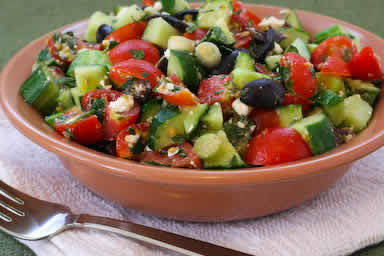 Chopped Tomato and Cucumber Salad