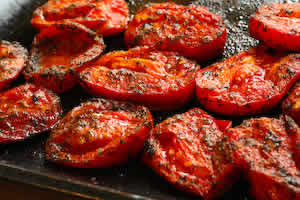 Kalyn's Kitchen®: Quick Roasted Tomatoes with Basil and Goat Cheese