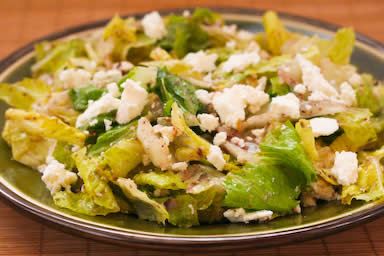 Romaine Salad with Kalamata Olive Vinaigrette and Feta