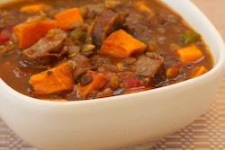 Kalyn's Kitchen®: Lentil and Sausage Soup Recipe with Sweet Potatoes ...