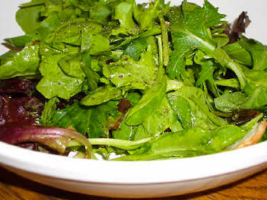 Perfect Salad with Spring Lettuce Mix