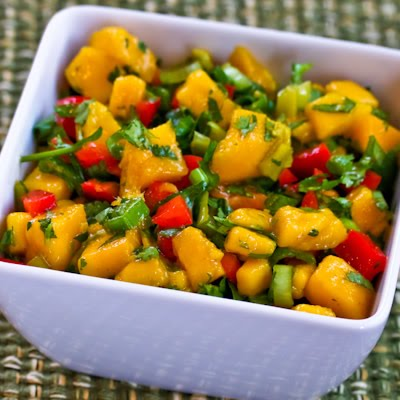 Recipe for Mango Peperoncini Salsa with Red Bell Pepper, Lime and ...