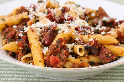 Penne with Chunky Sausage Sauce