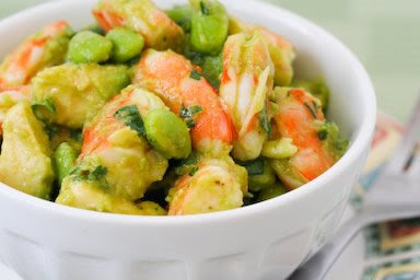 Kalyn's Kitchen®: Shrimp and Avocado Salad with Edamame, Cilantro ...