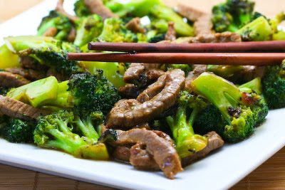 Stir-Fried Beef and Broccoli with Ginger and Ponzu Sauce found on KalynsKitchen.com.