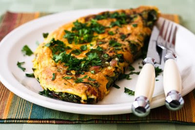 Red Kale Omelet