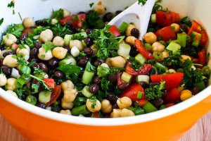 ... Eastern Bean Salad with Parsley and Lemon (Balela) | Kalyn's Kitchen