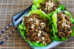 ... for Asian Lettuce Cups (or wraps) with Spicy Ground Turkey Filling