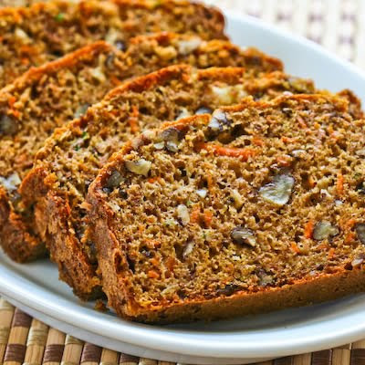 Low-Sugar and Whole Wheat Garden Harvest Cake with Zucchini, Apple, and Carrot