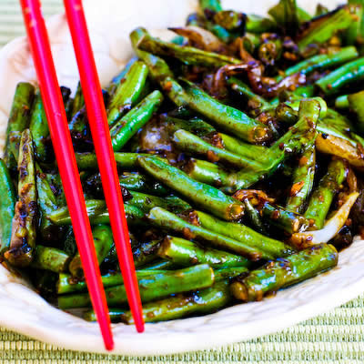 Garlicky Green Beans Stir Fry