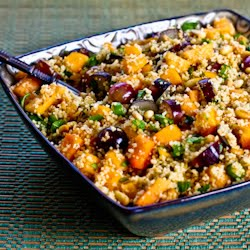 Whole Wheat Couscous Salad Recipe with Persimmon, Grapes, Green Onion ...