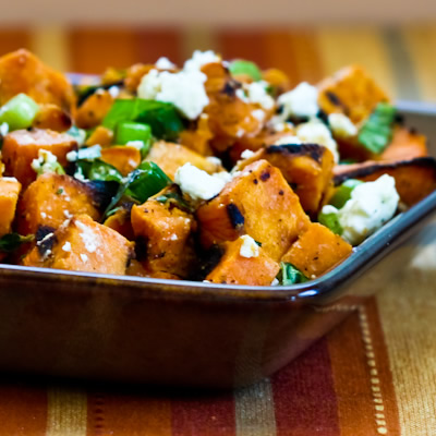 Vegetarian Grilled Sweet Potato Salad with Green Onion ...