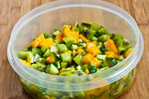 ... Kitchen®: Kiwi, Mango, and Cucumber Salsa with Lime and Jalapeno