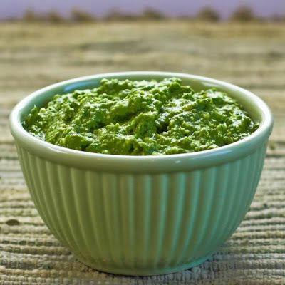 Basil Pesto with Lemon found on KalynsKitchen.com.