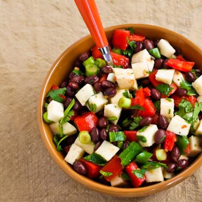 Black Bean Salad With Jicama Tomatoes And Cilantro
