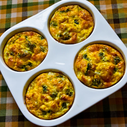 Baked Mini-Frittatas with Broccoli and Three Cheeses | i ...