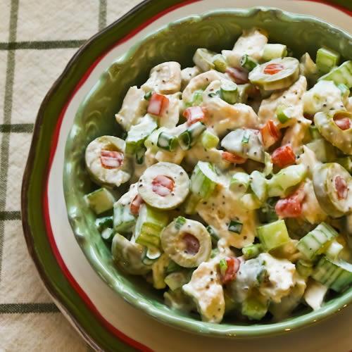 Салат с маслинами фото рецепт