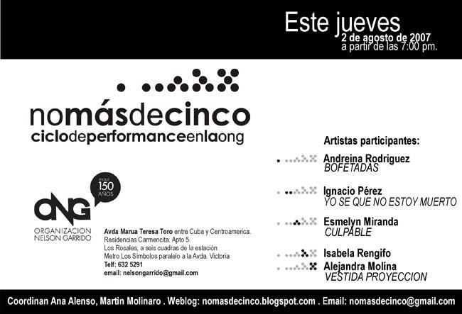 invitación II nomasdecinco Agosto 2007