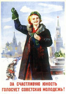 За счастливую юность голосует советская молодежь!,  Иогансон Борис Владимирович, 1946