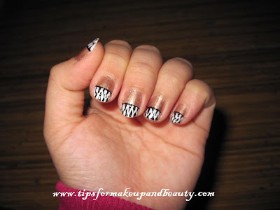 black and white nail art designs. I did my nail designs