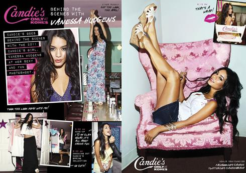 Vanessa Hudgens, 22, has stepped into Britney Spears' Candie's shoes.