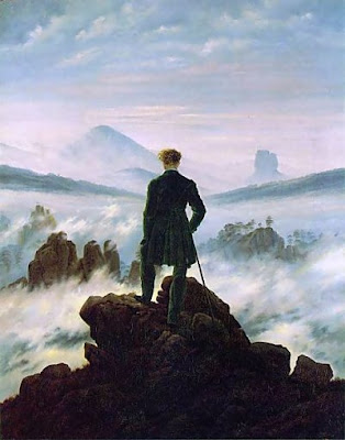 FRIEDRICH, Caspar David. Wanderer above the Mist. 1818