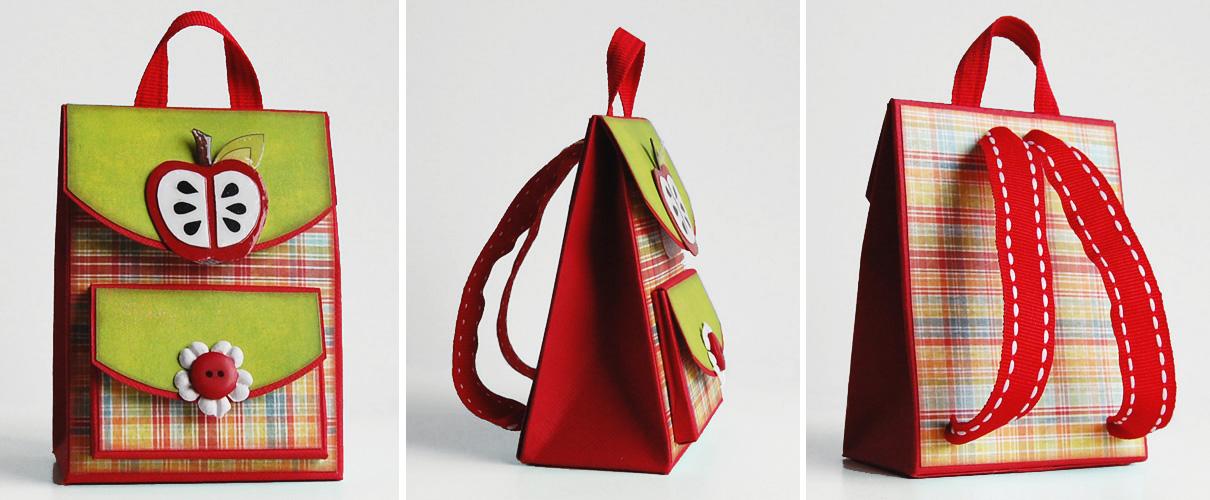 Открытка рюкзак скрапбукинг 47
