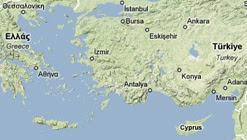 Mappa del Mar Egeo