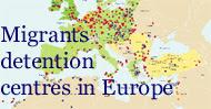 Mappa dei campi di detenzione per migranti in Europa