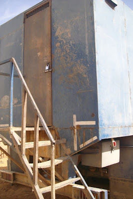 Scala di ingresso nel container