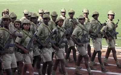 parata militare esercito eritreo