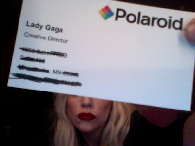 Lady-Gaga-Polaroid-Business-Card