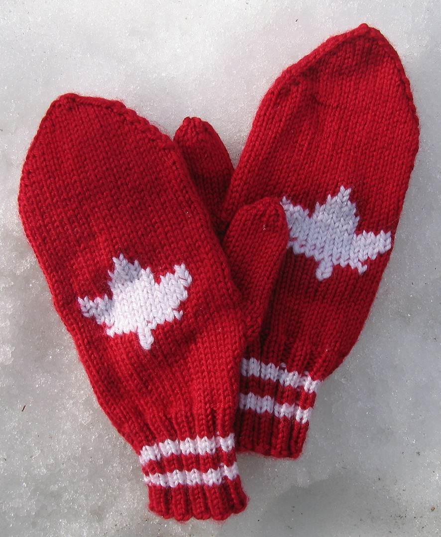 Knit Maple Leaf Pattern Free : Muddy Paws: A Mound of Mittens