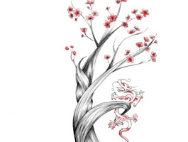 Drawing A Cherry Blossom Flower