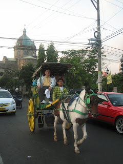 Horse drawn carriage in historic Manila