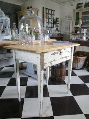 Kärleken till Fransk inredning: Gammal köksö : köksö bord : Kök