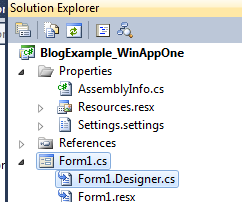 Windows Forms application