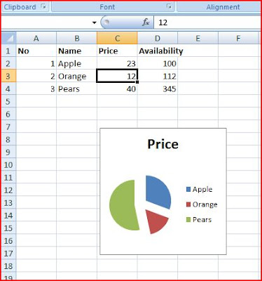 how to make a pie chart using excel