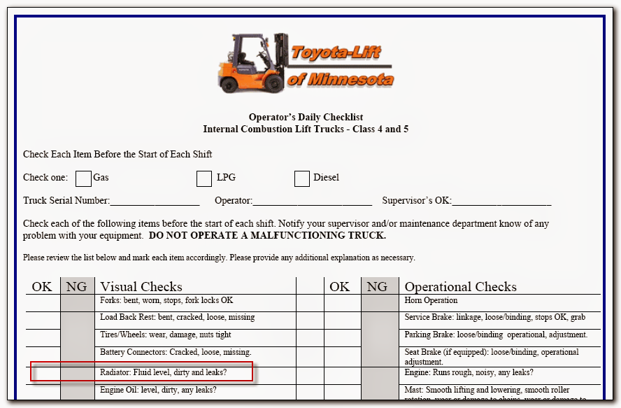 Forklift Inspection Checklist http://picsbox.biz/key/forklift ...