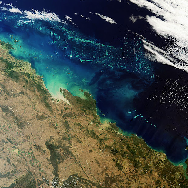 The Great Barrier Reef, the largest single living structure on Earth