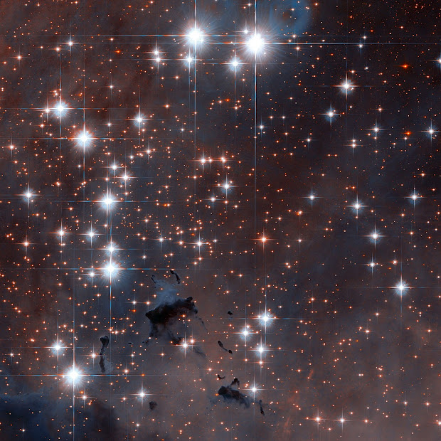 Young Open Star Cluster NGC 6611 as viewed by Hubble's ACS
